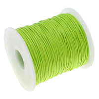 1mm Waxed Cotton Cord Lime Green