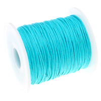 1mm Waxed Cotton Cord Turquoise
