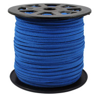 Faux Leather Suede Beading Cord, Royal Blue