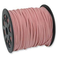 Faux Leather Suede Beading Cord, Camelia Pink