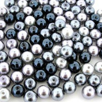 UnCommon Artistry Glass Pearl Mix 200pcs 6mm - Silver-Gray Mix