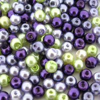 UnCommon Artistry Glass Pearl Mix 100pcs 8mm - Lavender Garden Mix