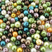 UnCommon Artistry Glass Pearl Mix 100pcs 8mm - Forest Mix
