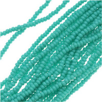 Czech Seed Beads 11/0 Green Turquoise Opaque (1 Hank)