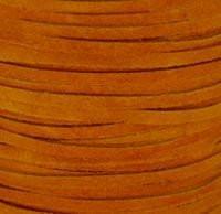 Genuine Split Suede Leather Lace Cord 3mm Orange