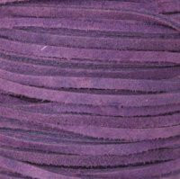 Genuine Split Suede Leather Lace Cord 3mm Cyclamen Purple