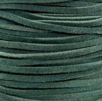 Genuine Split Suede Leather Lace Cord 3mm Green