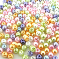 UnCommon Artistry Glass Pearl Mix 200pcs 4mm - Pastel Mix