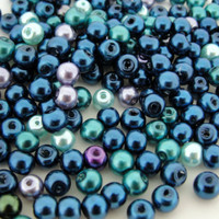 UnCommon Artistry Glass Pearl Mix 200pcs 4mm - Ocean Mix