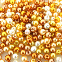 UnCommon Artistry Glass Pearl Mix 200pcs 4mm - Caramel Mix