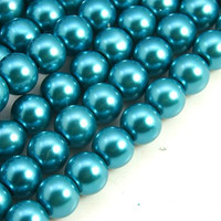 UnCommon Artistry Glass Pearl Beads 200pcs 6mm - Teal Blue