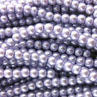 Glass Pearl Beads 75pcs 8mm - Lilac