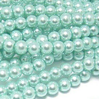UnCommon Artistry Glass Pearl Beads 200pcs 6mm - Aqua
