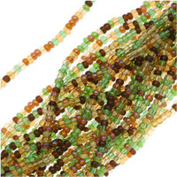 Czech Seed Beads Earth Tones Mix 11/0  (1 Half Hank)