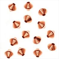 Genuine Copper Bicone Beads 3.2mm (100)