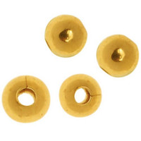 22K Gold Plated 5mm Round Metal Beads (25)