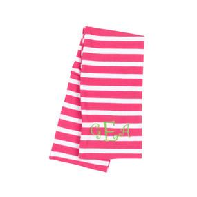 Kids' Hot Pink Stripe Scarf