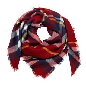 Navy/Garnet Blanket Scarf