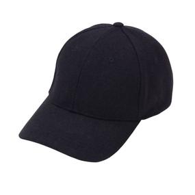 Black Wool Blend Cap