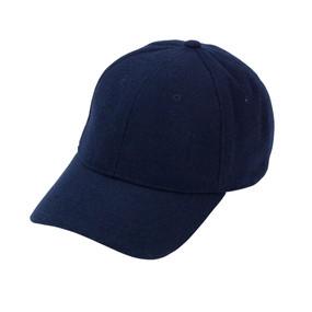 Navy Wool Blend Cap