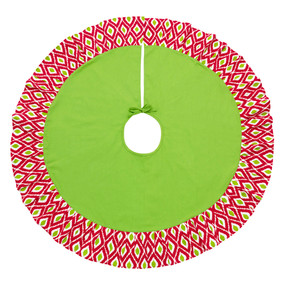 Holiday Ikat Tree Skirt