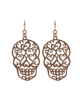 Sugar Skull Cutout Earrings