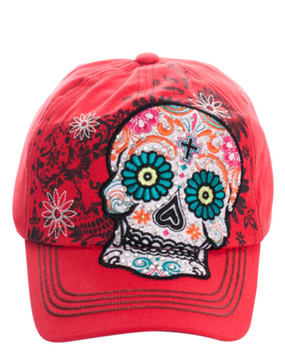 Sugar Skull Cross Cap
