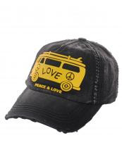 Peace Sign Van Baseball Cap