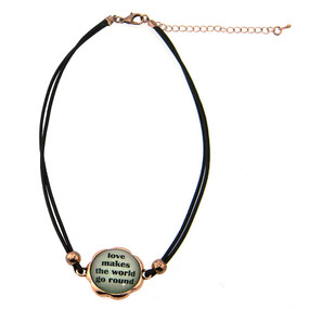 Love Makes the World go Round Charm Choker