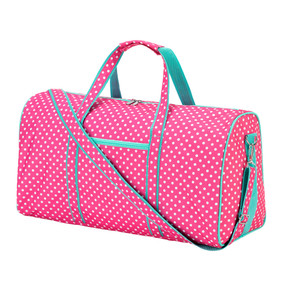 Pink Dottie Duffel Bag