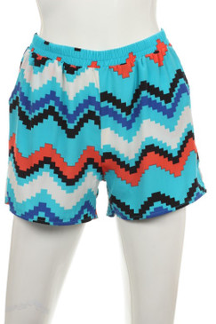Chevron Print Short Pants