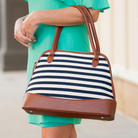 Chandler Striped Purse
