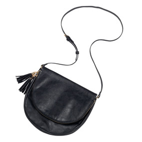 Black Sienna Tassel Bag