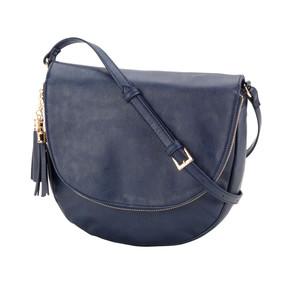Navy Sienna Tassel Bag