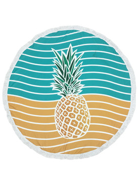 PINEAPPLE PRINT ROUND BEACH TOWEL MAT