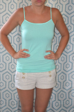 Cotton Spaghetti Strap Top - Mint