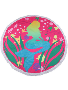 LETS BE MERMAIDS PRINT  ROUND BEACH TOWEL MAT