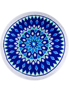 GEOMETRIC PATTERN  ROUND BEACH TOWEL MAT