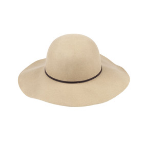 Natural Wool Floppy Hat