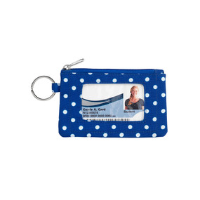 Royal Blue Dot ID Case