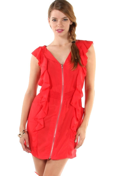 Every Dawg Has Its Day Dress - Red