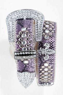 Fleur De Lis Belt - Purple
