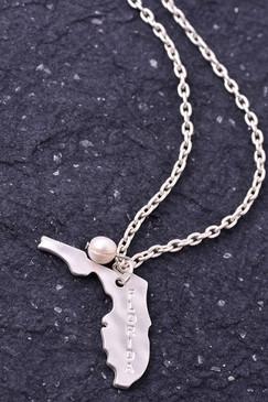 Florida Charm Necklace - Silver