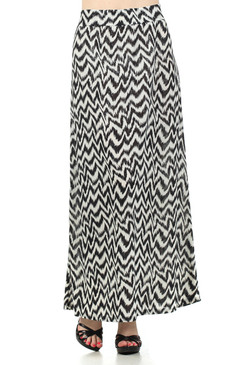 Full Length Printed Skirt