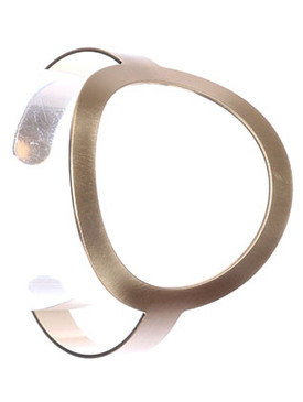 Bracelet / Matte Finish / Cutout Metal Cuff / Ring / 2 2/3 Inch Diameter / 2 1/4 Inch Tall / Nickel And Lead Compliant