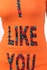 I Like You Fitted T-Shirt - Orange