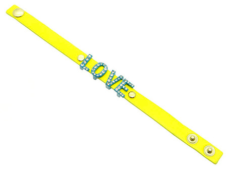 Love Leather Bracelet - Yellow