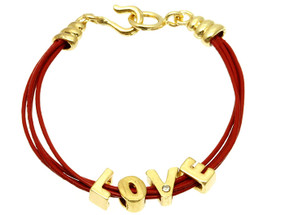 Multi Stranded Love Bracelet - Red