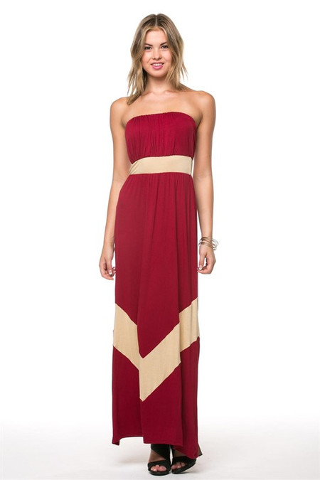 Garnet and Gold Maxi Dress