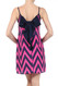 Peach Love Cream Fuchsia Chevron Dress with Back Bow Detail